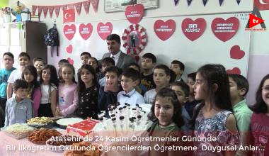 Ataşehir'de 24 Kasım  Bir Öğretmenler Günü Ve Duygusal Anlar..