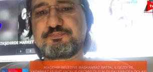 ATAŞEHİR BELEDİYE BAŞKANIMIZ BATTAL İLGEZDİ'YE TEŞEKKÜR EDERİZ..