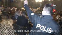 ATAŞEHİR'DE NARGİLE KEYİFLİ OKEY MASASINA POLİS BASKINI.